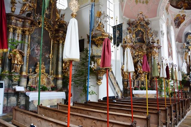 Pfarrkirche St Peter Paul Oberammergau Parasol