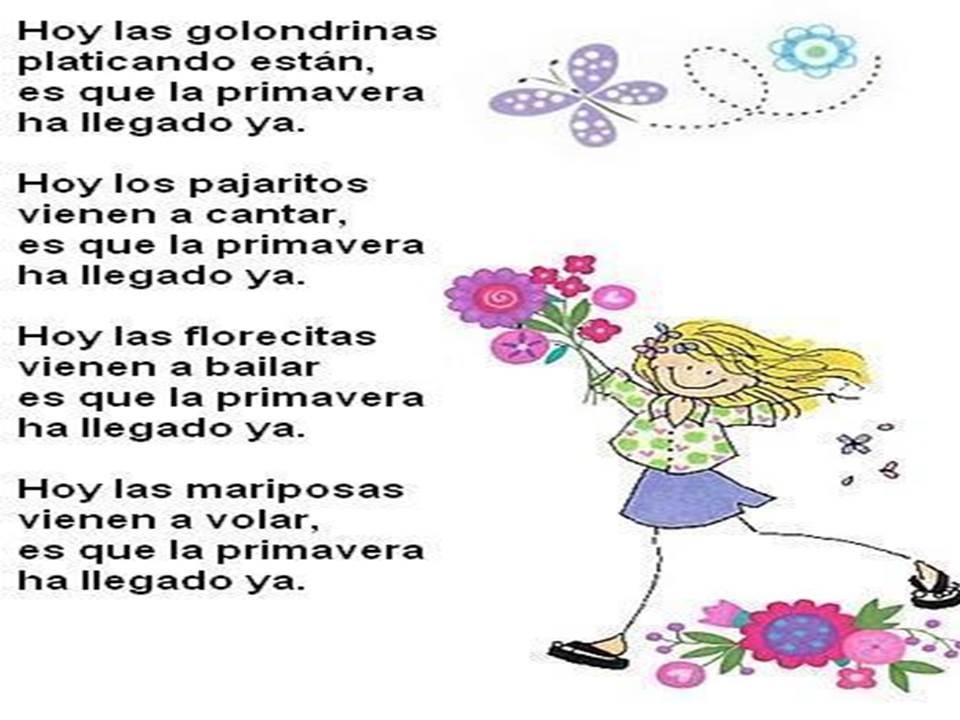 Poema De La Primavera Qu 201 Hacemos Hoy En El Cole