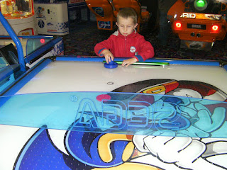 air hockey game at amusement arcade gunwharf portsmouth