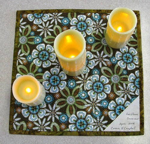 Backing of candle mat