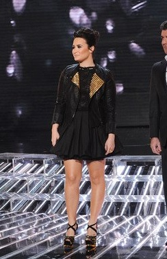 red carpet dresses demi lovato quotthe x factorquot live show