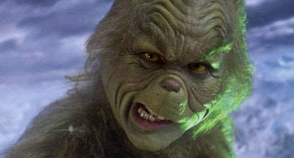 Jim Carrey as The Grinch, HOW THE GRINCH STOLE CHRISTMAS (2000) (Makeup Artist: Rick Baker and Gail Rowell-Ryan)