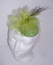 Green Goddess fascinator
