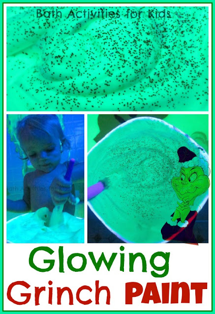 Glowing Grinch Bath