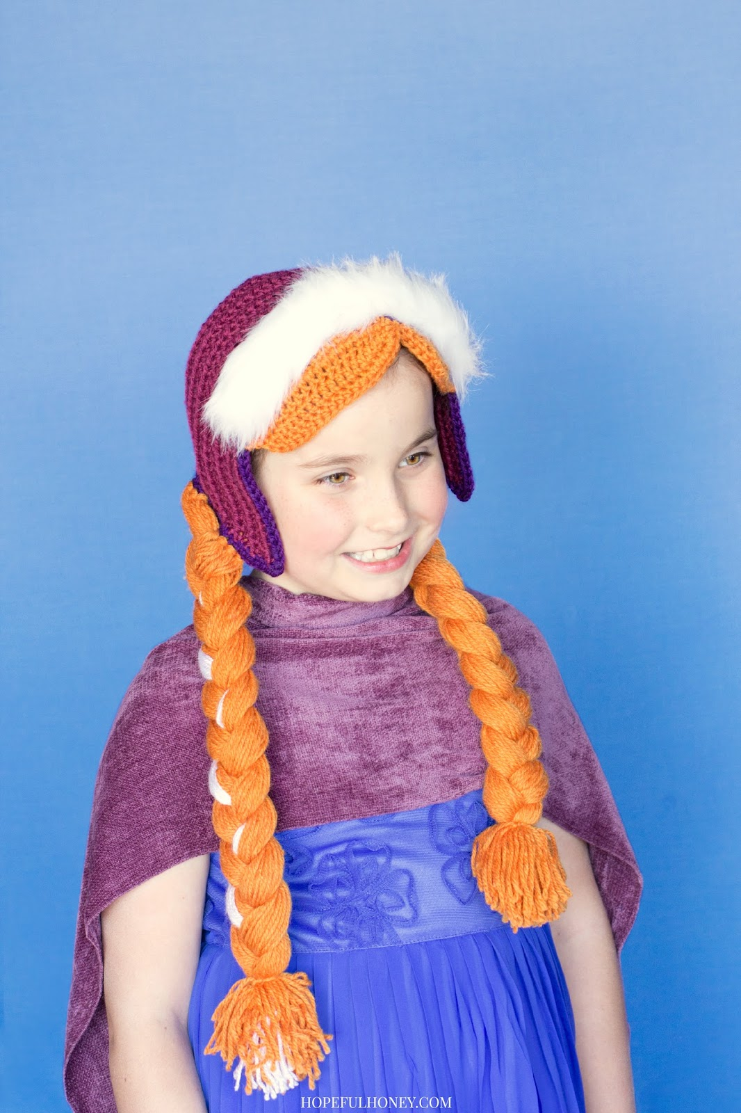 Crochet create frozen princess anna inspired hat crochet pattern