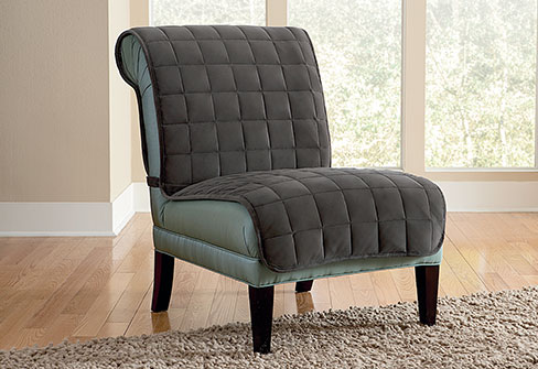luxury image of armless chair slipcovers
