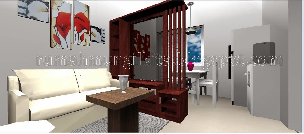 desain rumah tipe 40 tanah 84 lantai 2kamar tidur