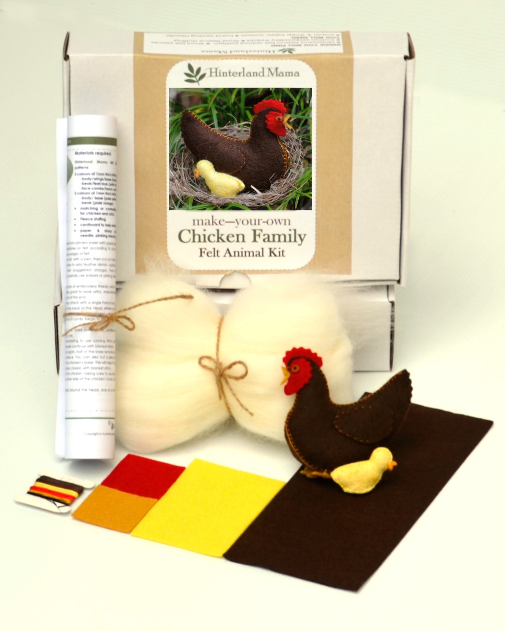 http://www.etsy.com/listing/185853053/kit-to-make-a-farmyard-chicken-family