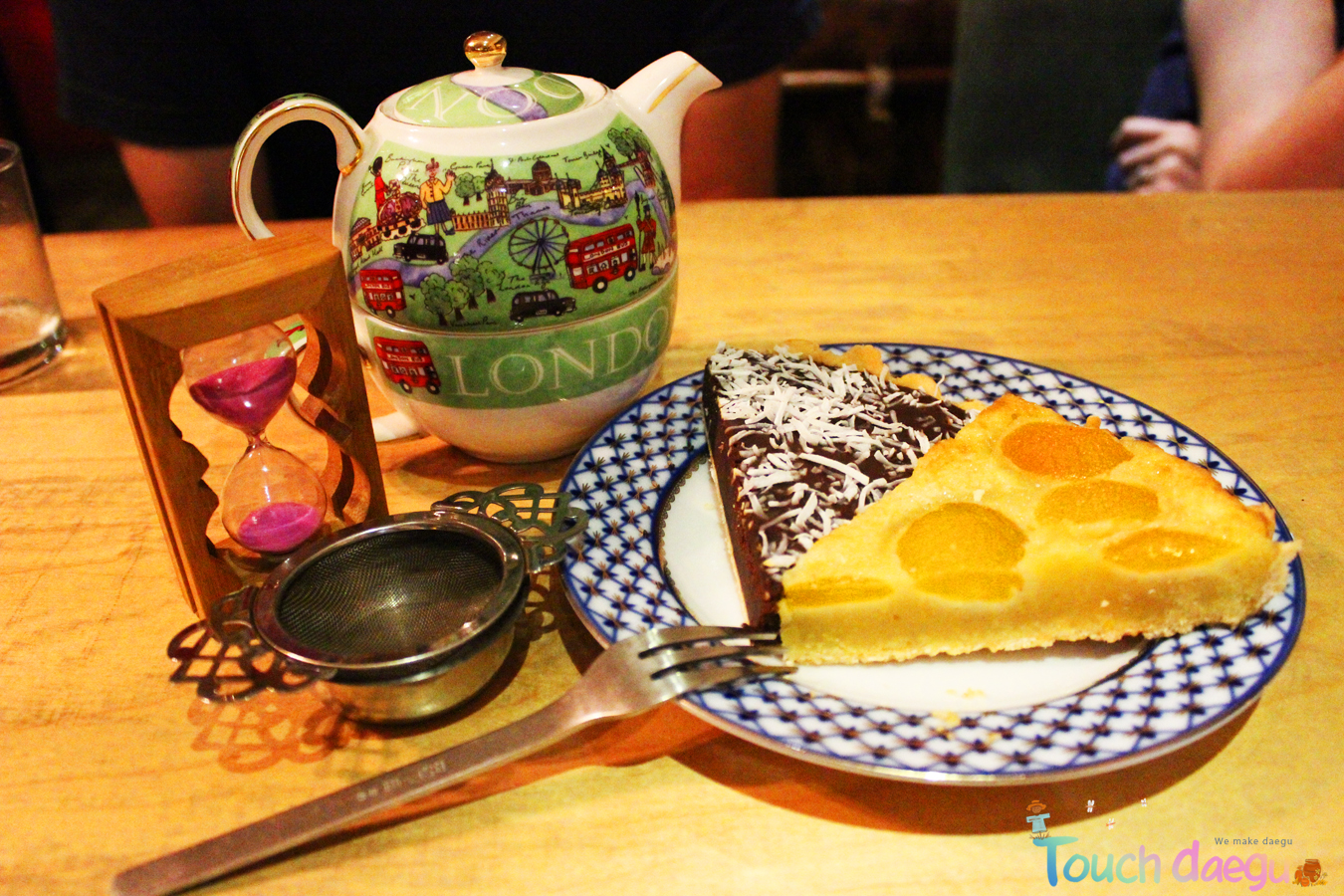 Ready to enjoy teatime with a pot of tea and sweet pies