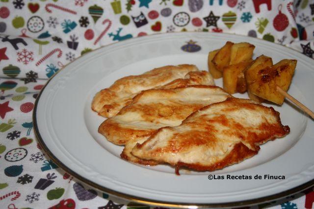 Las recetas de finuca filetes de pollo a la plancha con pi a for Que cuisiner a la plancha
