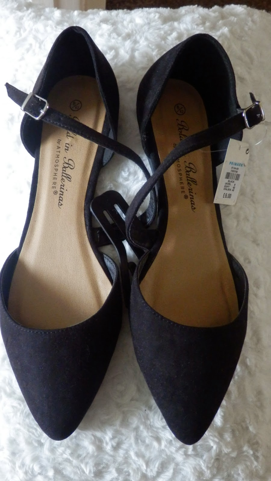 Primark Cross Over Strap Black Shoes