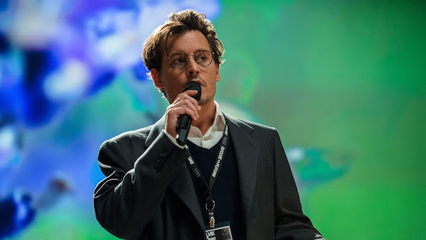 johnny depp as will caster asin transcendence movie 2014