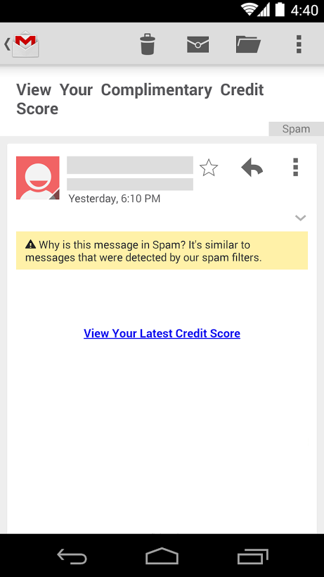 Spam explanations