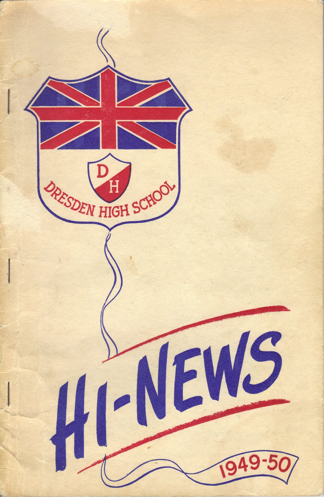 DRESDEN HIGH SCHOOL YEAR BOOK, 1949-'50