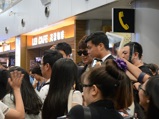 Lee Min-ho at the Beijing airport