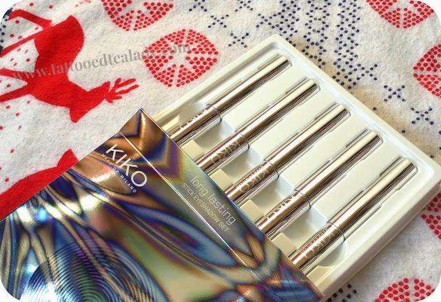 KIKO Long Lasting Stick Eyeshadow Set + Swatches