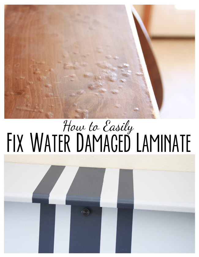 Superbe How To Paint Perfect Lines AND Fix Water Damaged Laminate Furniture