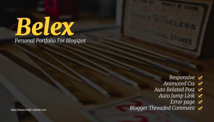 Belex personal Portfolio Bloger Template