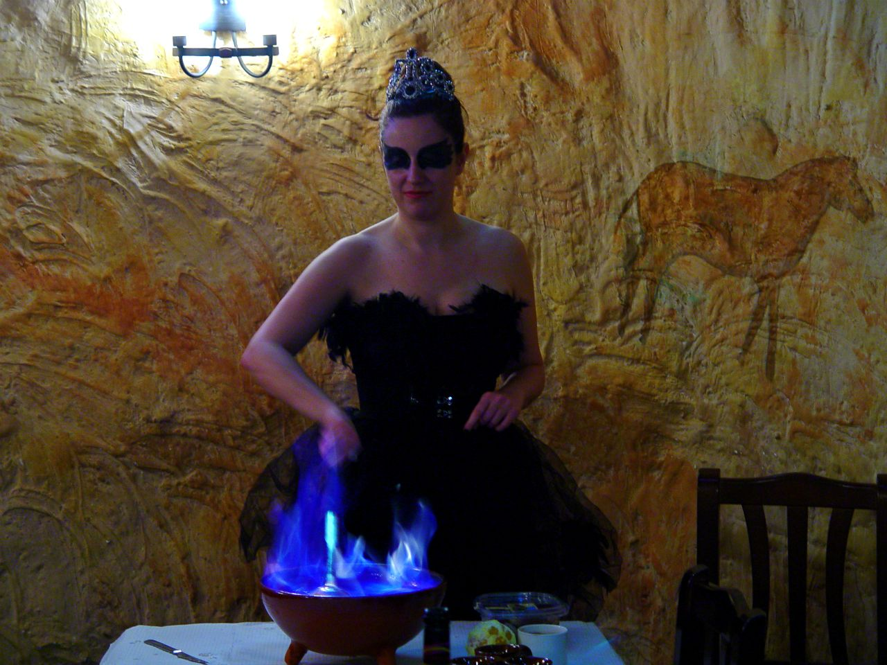 halloween queimada cisne negro black swan