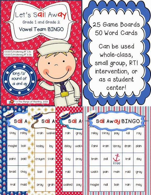 http://www.teacherspayteachers.com/Product/Sail-Away-long-sound-of-ai-and-ay-Vowel-Team-BINGO-802229