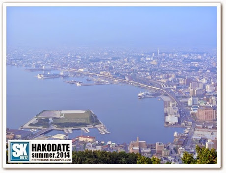 Hakodate Japan - Bird's Eye View of Hakodate City from Mount Hakodate