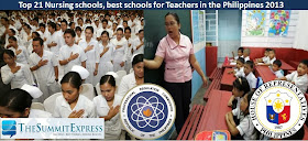 Top schools Philippines nursing, teachers 2014