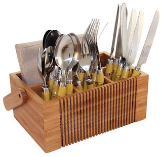 bamboo flatware caddy