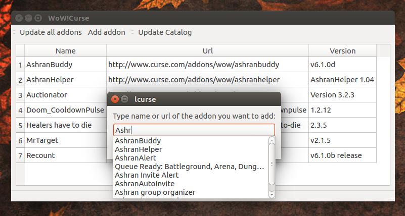lcurse Linux Curse.com client