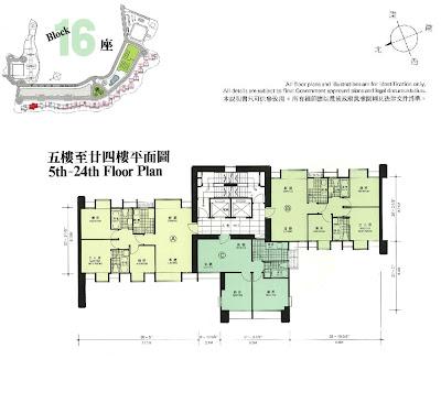 華景山莊第十六座平面圖
