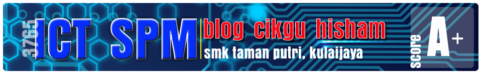 ICT SPM - Blog Cikgu Hisham