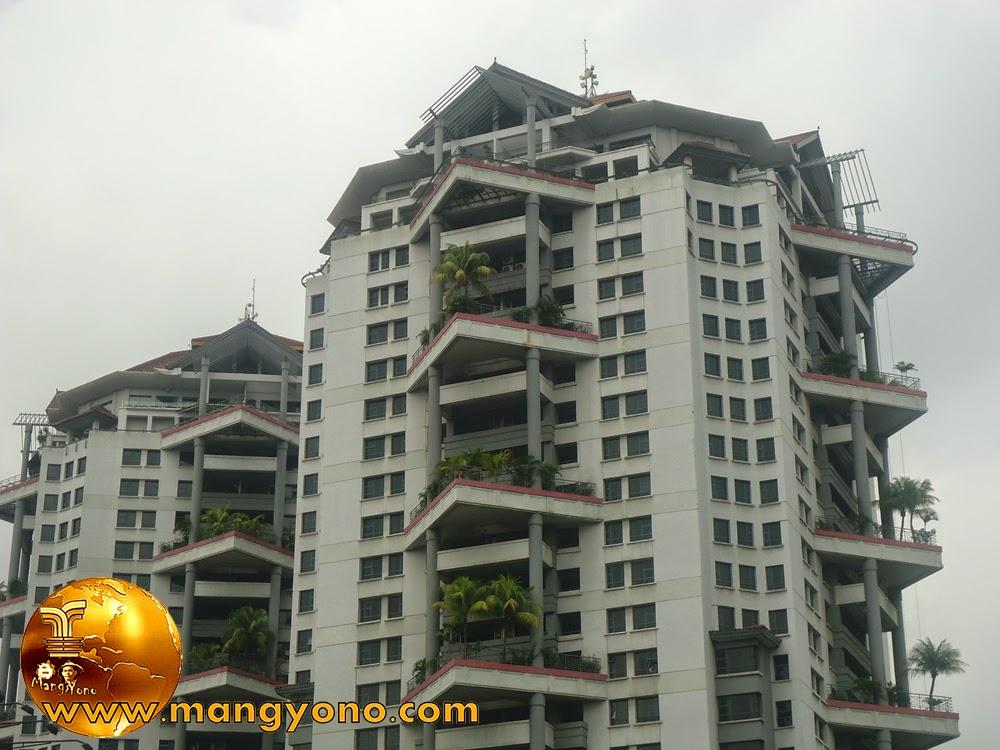 Grand Tropic Suites Hotel tanaman di lantai gedung dengan tanaman Kelapa.. Keren khan.