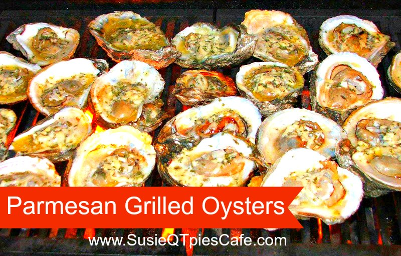 SusieQTpies Cafe: {Summer Recipe} Parmesan Grilled Oysters