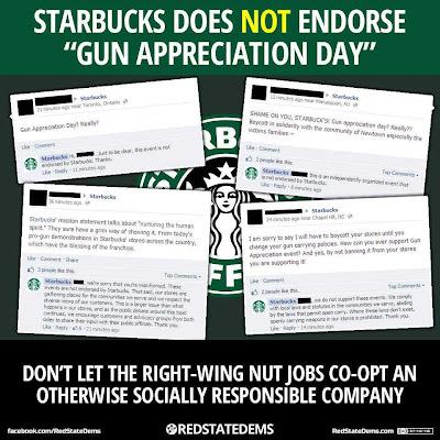Starbucks, guns, open carry, Constitution