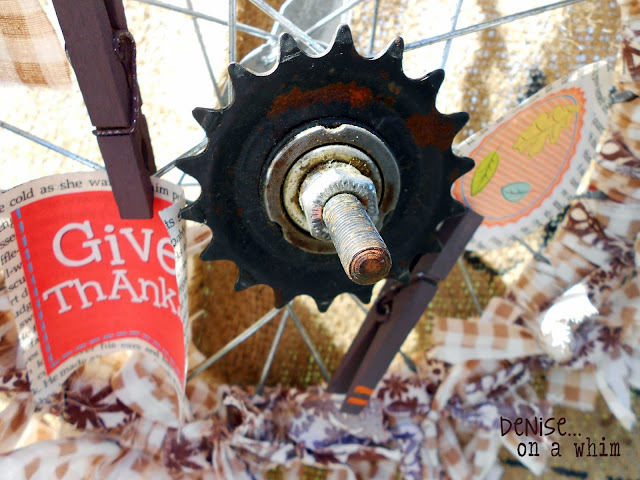 upcycled, recycled, wheel, rust, wreath