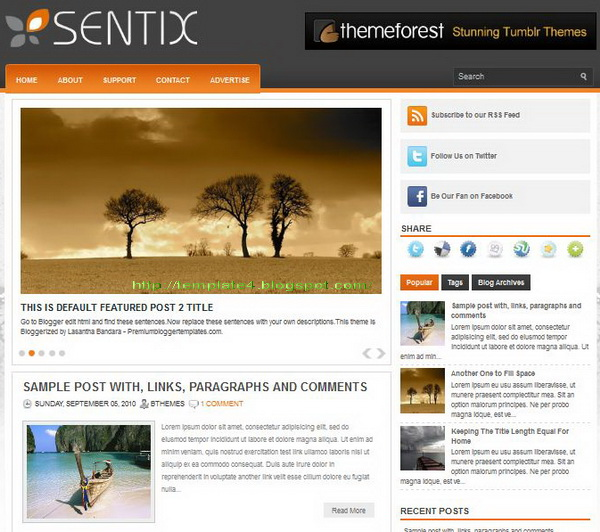 Sentix Blogger Template