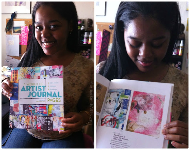 Martice gets PUBLISHED in A World of Artist Journal Pages!