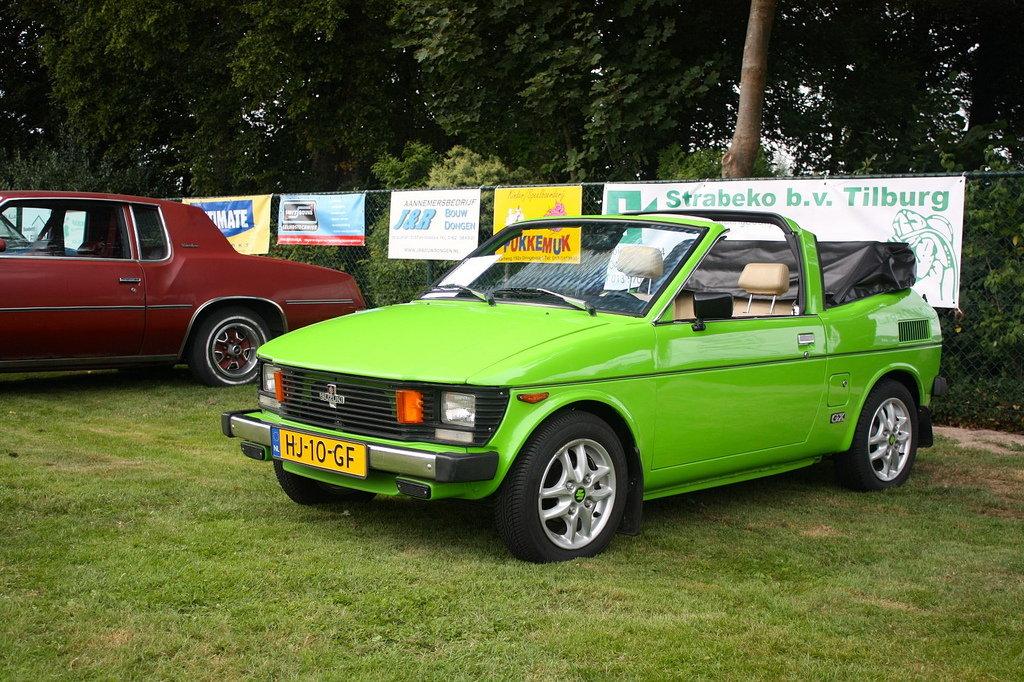 Suzuki SC100, Whizzkid, przeróbka na kabrio, obcięty dach w samchodzie, modyfikacja, tuning, klasyczne małe auta