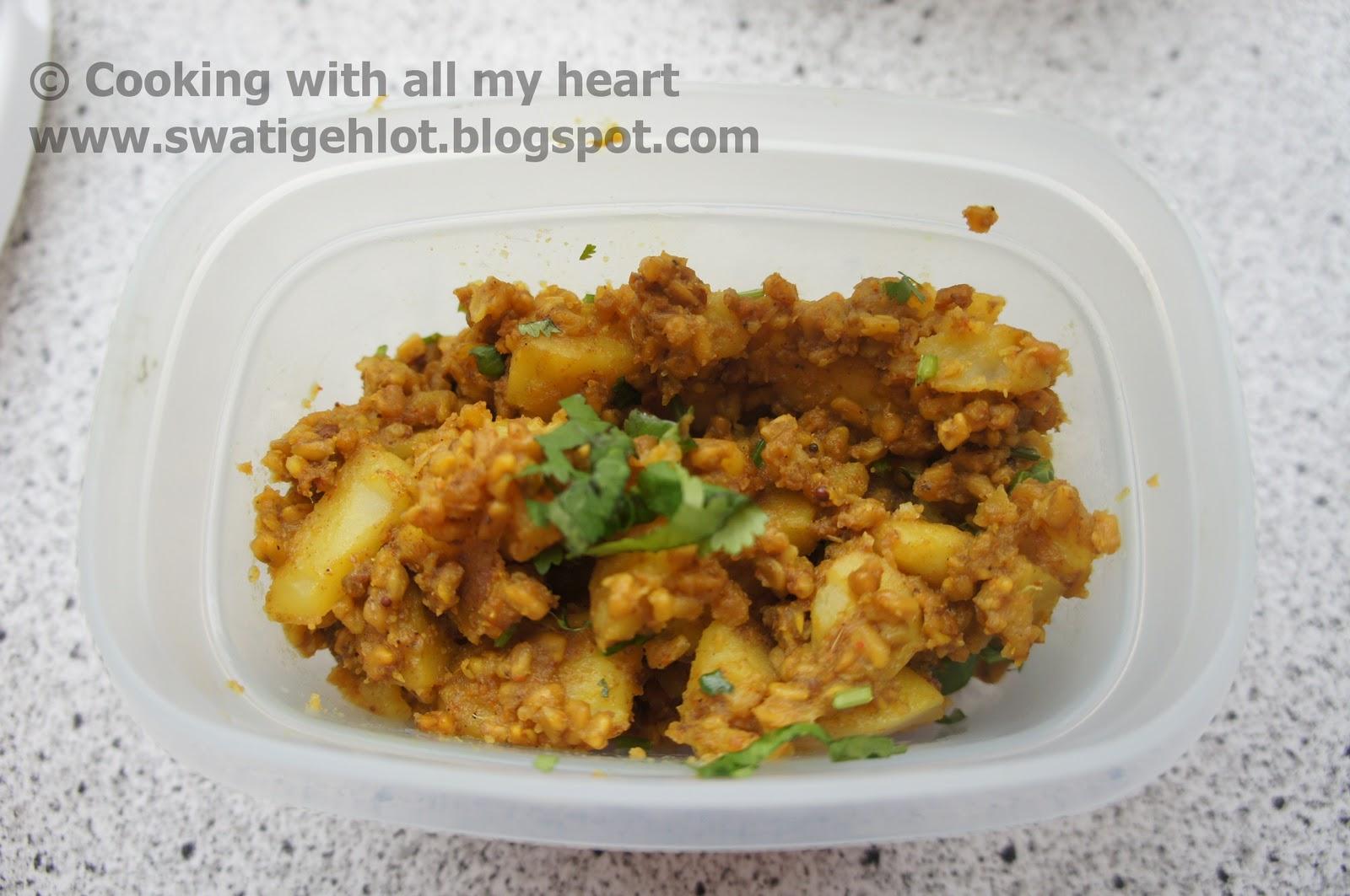 Cooking with all my heart :): Aloo-Methidana Sabji ...