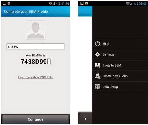 Screenshot BBM