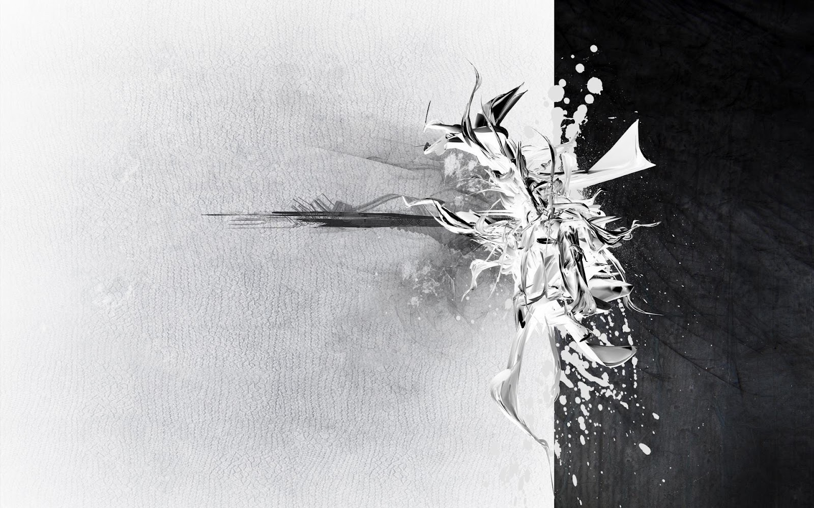 Wallpaper 3d Abstract Black And White Awesome Da Men