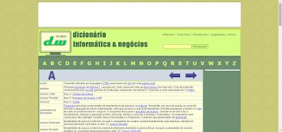DICIONÁRIO DE INFORMÁTICA E NEGÓCIOS ONLINE