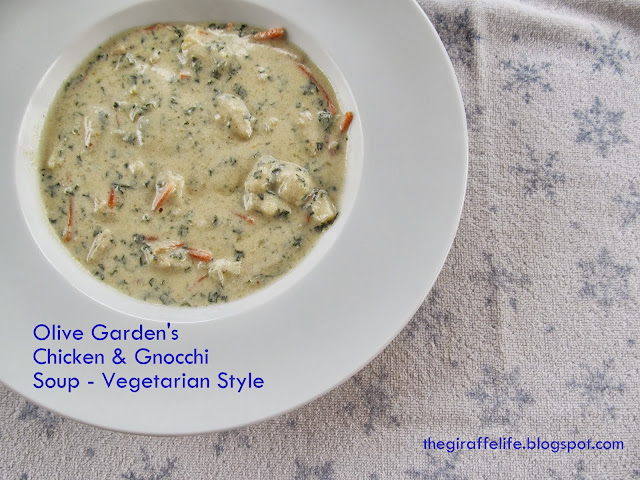The giraffe life vegetarian version of olive garden 39 s - Gnocchi soup olive garden recipe ...