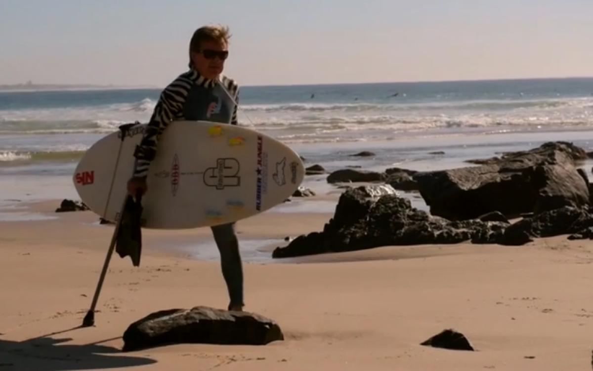 surfing sin pierna