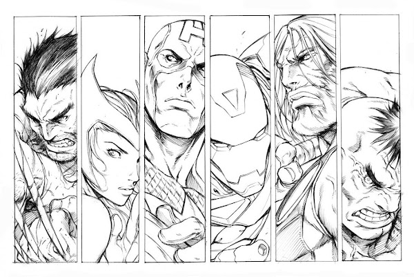 Avengers Comic Book Coloring Pages Printable