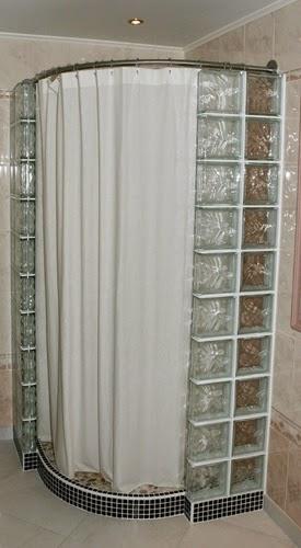 Galbobain l 39 l gance dans la salle de bain for Rideau de douche circulaire