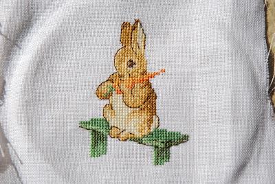 point de croix etc: lapins Beatrix Potter