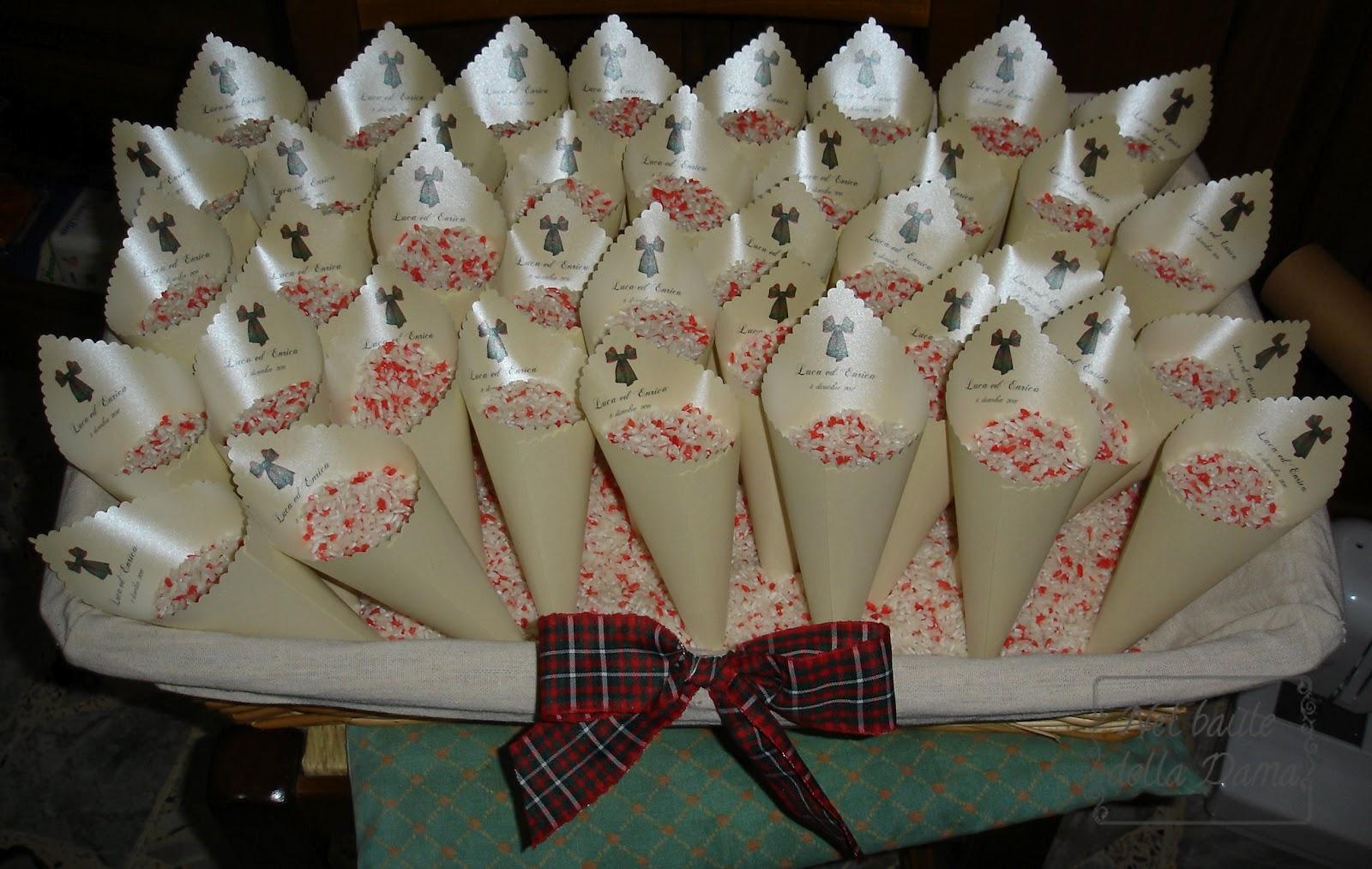 Nel baule della dama matrimonio di una dama - Cesto porta coni di riso ...