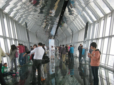 Shanghai - Aussichtsplattform des World Financial Center