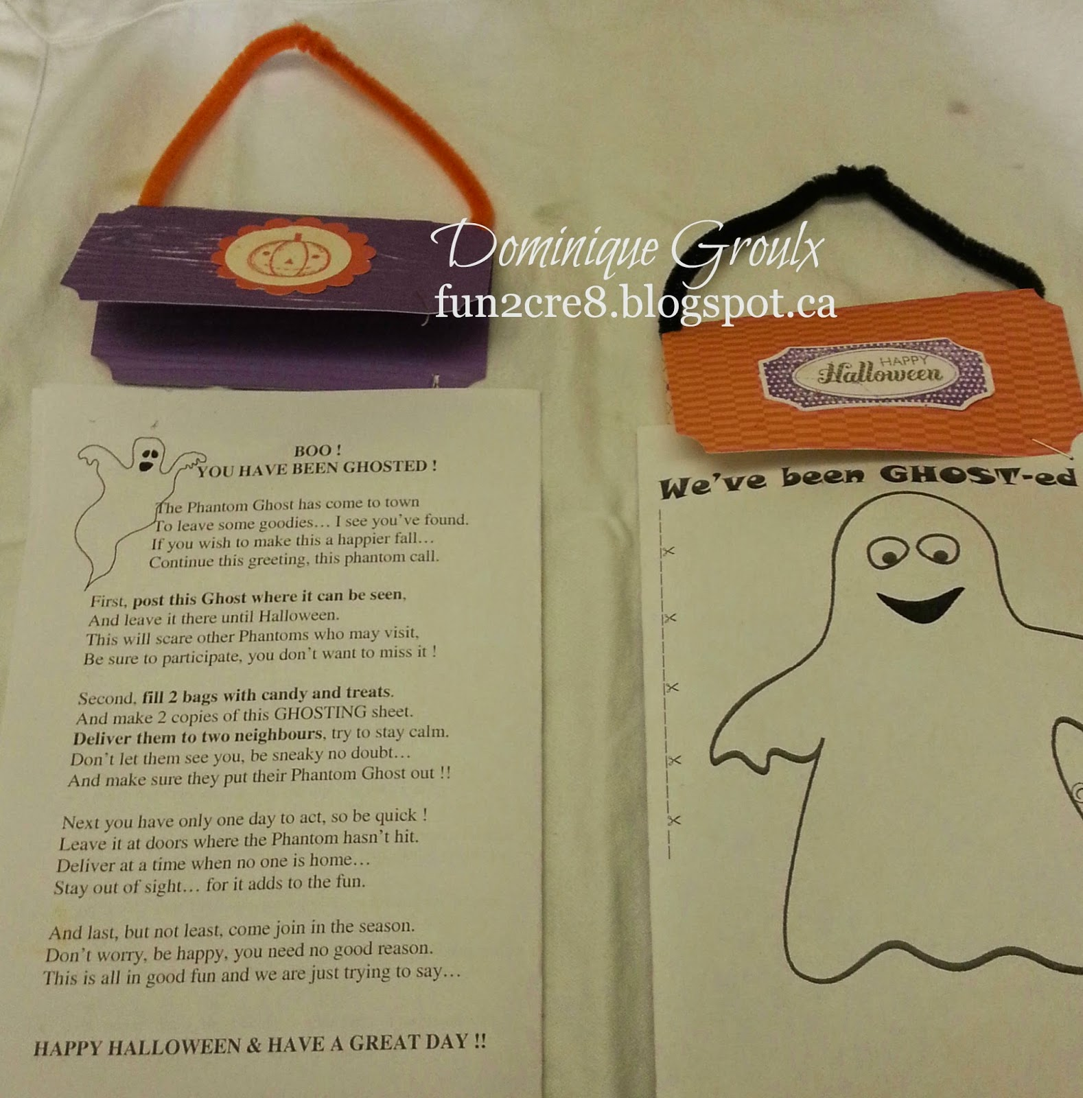 Boo-ing Halloween, Ghosting candies, CTMH bag topper