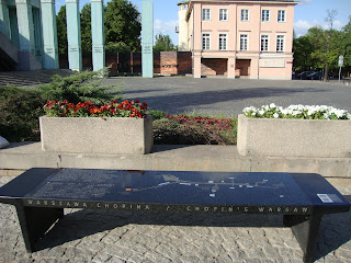 Chopin Music Bench in Warsaw, 2012 Photo by Maja Trochimczyk